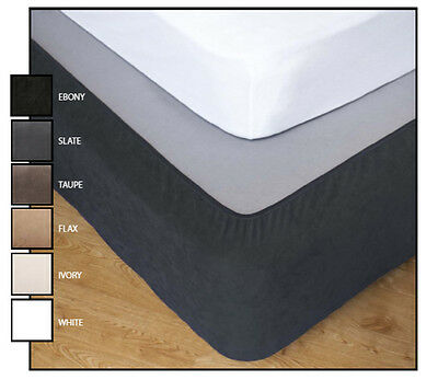 Stretch Snuggle Fit Bed Valance Wrap Double Queen King 6 Colours