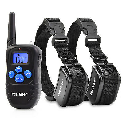 Petrainer Dog Training Shock Collar Remote Rechargeable E Collar for 2 Dogs