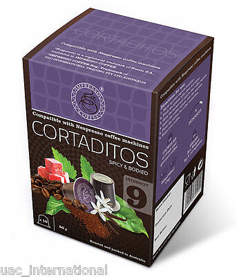 30 Nespresso Compatible Coffee Pods CORTADITOS Coffee Capsules