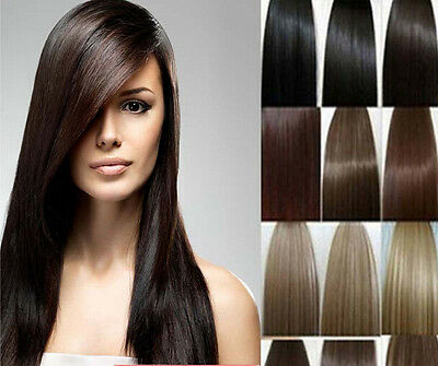"""7/8p Lot 15"""" 18"""" 20"""" 22"""" Clip In Remy Real 100% Human Hair Extensions Full Head"""