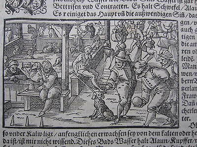 MÜNSTER / MUNSTER: Cosmographia Woodcut Bowling Beheading - 1598#