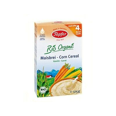 TOPFER Bio Organic Corn Cereals With Carrots From 4 Months 175g 6oz