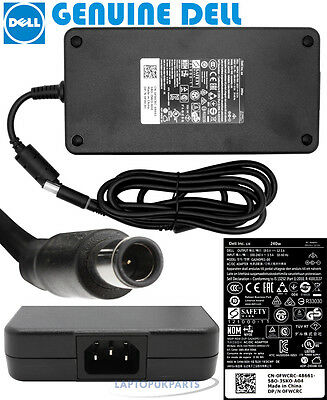 New Genuine Dell Precision M6800 240W Laptop Ac Adapter Charger Power Supply