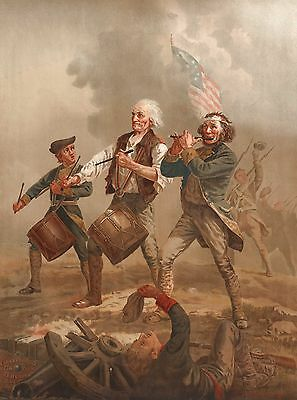American Revolutionary War - 1776 - USA Flag - Fine Art Canvas Print
