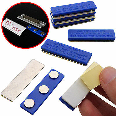 Strong Magnetic Badge Name Tag Holder Badge Pins Attachment 3 Magnets 46 X 13mm