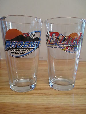 "NASCAR Bud BUDWEISER -  PHOENIX INTERNATIONAL RACEWAY 6"" Beer Glass"