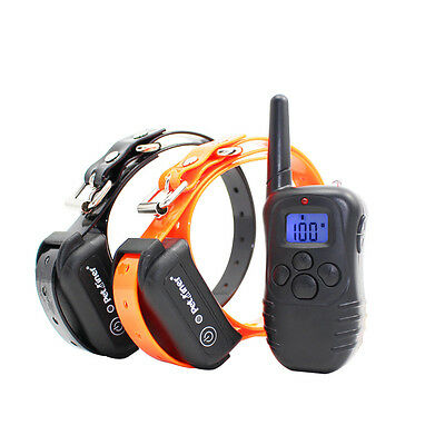 Pet Dog Training Collar Waterproof Rechargeable LCD Electric Remote Shock Collar
