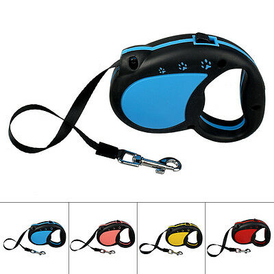 3/5m Auto Retractable Pet Dog Puppy Training Lead Leash Extendable For Small Dog