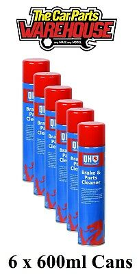 6 X POLYGARD / QH CLUTCH or BRAKE CLEANER LARGE 600ML CANS *SPECIAL OFFER* X 6