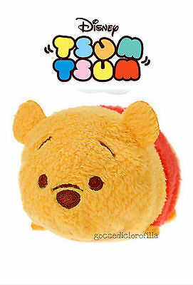 DISNEY TSUM TSUM WINNIE THE POOH ORIGINALE con CARTELLINO peluche mini