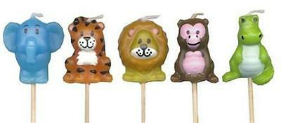 Jungle Animals Party Cake Pick Candles x 5