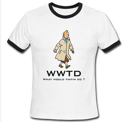 What would TINTIN do Tees comic cartoon herge vintage old T-SHIRT S M L XL 2XL