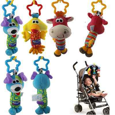 HOT Baby Soft Animal Handbell Stroller Bell Car Pram Toy Developmental Activity