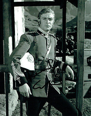 Michael CAINE SIGNED Autograph 10x8 Photo English Actor AFTAL COA Zulu