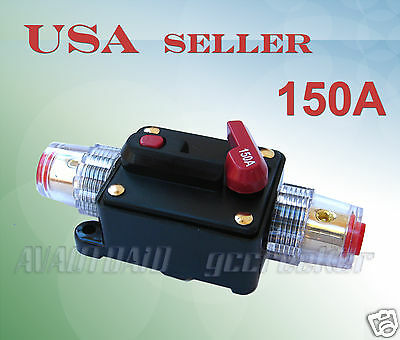 A4A 200A Car Audio Inline Circuit Breaker Fuse For 12V Protection CB04-200A