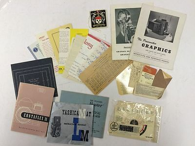 Lot of Vintage Camera Manuals and Paperwork - BL64