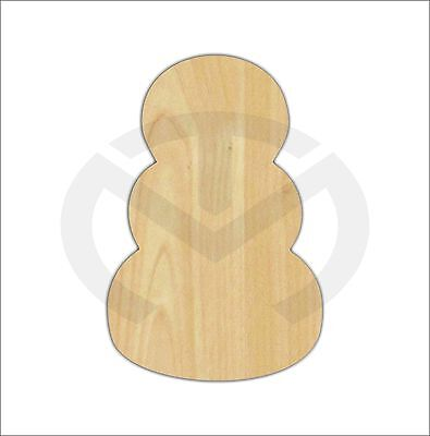 Unfinished Wood Stacked Shape for Pumpkins & Snowman Laser Cutout, Door Hanger