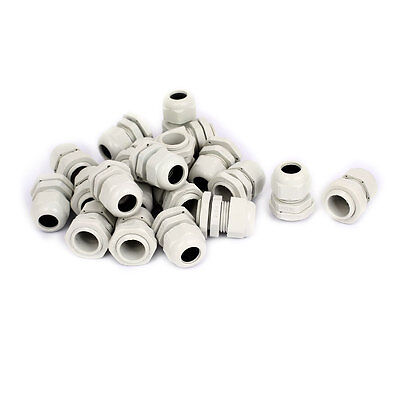 20 Pcs PG16 8-13mm Waterproof Wire Cable Glands Connector Joints Adapter White