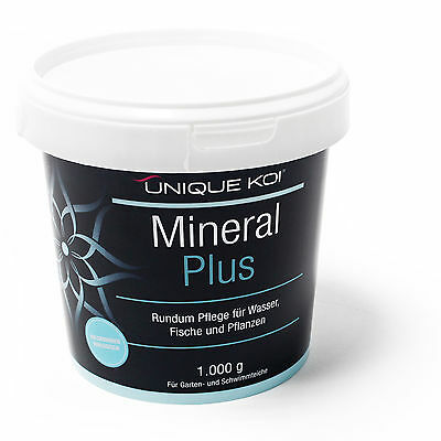TT18.99€/kg Unique Koi Mineral Plus 1000 g for sane and stable water equivalent