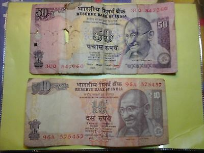 old india rupees 50 and 10