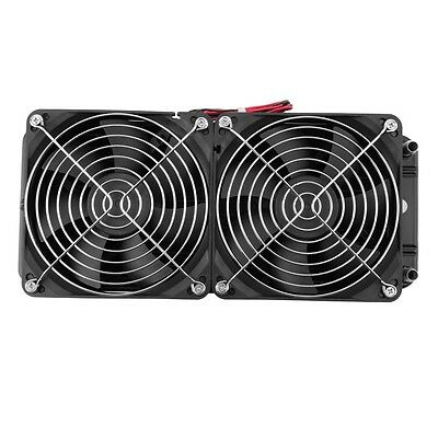 Aluminum 80mm Water Cooling cooled Row Heat Exchanger Radiator+Fan for CPU PC F7