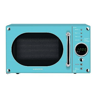 Daewoo KOR6N9RT Stylish Manual Microwave Oven 20L 800W 20 Litre Turquoise NEW