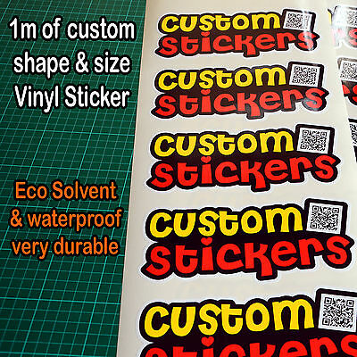 Vinyl Stickers Decals Labels custom printed and cut to any shape