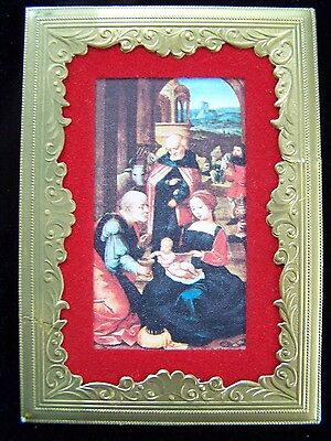 Vintage ADORATION OF THE MAGI Christmas 15th Cent Art Reproduction HENRI FAYETTE