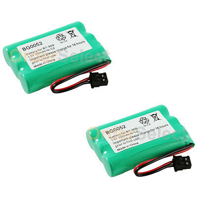 2x NEW Rechargeable Phone Battery for Uniden BT-909 BT909 BT-1001 BT-1004 BT1004