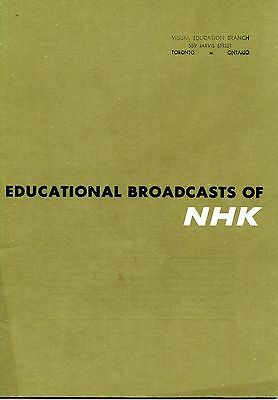 Old EDUCATIONAL BROADCASTS OF NHK 1963 booklet