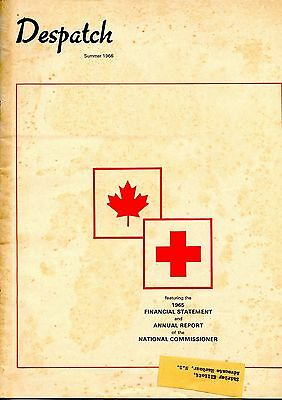 Old DESPATCH RED CROSS magazine Summer 1966 1965 Annual Report etc