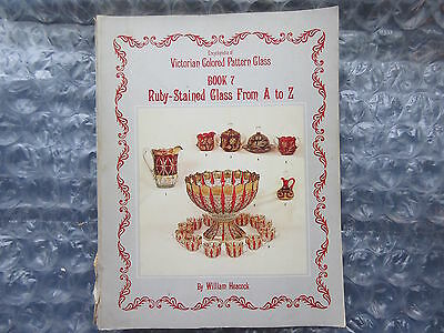 1986 Book Victorian Colored Pattern Glass Ruby stained Glass A to Z