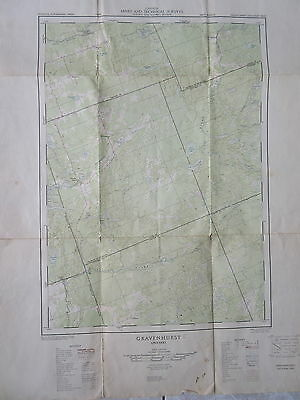 Old 1956 Map Gravenhurst Ontario Canada Mines & Technical Surveys