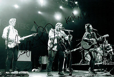 Of Monsters & Men Band RARE Signed Autograph 12x8 Photo AFTAL COA
