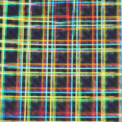 """24"""" Wide - Silver Holographic Squares -*LVG InterCal*- Sign & Graphics Film"""