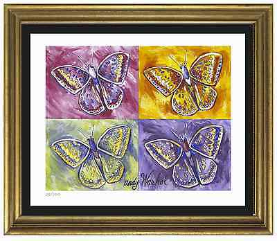 "Andy Warhol Signed/Hand-Numberd Ltd Ed ""Butterflies"" Lithograph Print (unframed)"