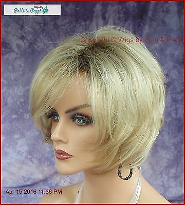 Designer Wig  *rooted Blond ✮ Adorable Tousled Bob Classy Timeless Style Nib
