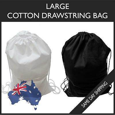Cotton Large Drawstring Bag Gym Sport School Laundry Shoe Footy BackPack