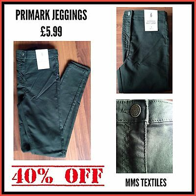 Primark Ladies Khaki High Waist Skinny Jeggings