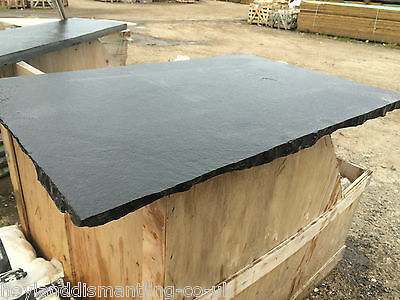 Natural Black Lime Stone Hearth 1200 x 600  (not slate) Dressed edge
