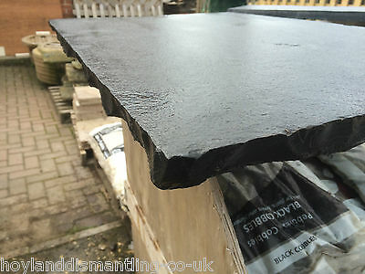 Natural Black Lime Stone Hearth 900 x 600  Dressed edge