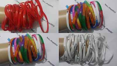 12 Gummy Bracelet Worded Bangle Rubber Jelly Gummie Wristband Friendship Band