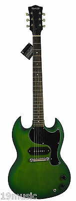 GLASGOW by Quincy SG Junior style electric guitar GREEN rare colour