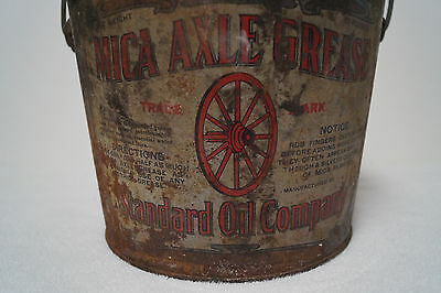 Antique Standard Oil Company Grease Bucket  Old Gas Oil Automobile 10 Pounds
