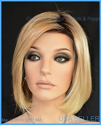 "Lace Front Wig Color ""27T613S8"" Nib Hot Sassy Stunning Rooted Blond Bob Style"