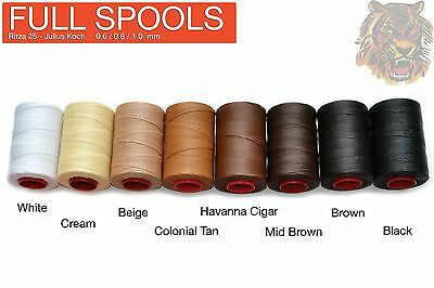 "FULL SPOOL - Ritza 25 ""Tiger"" Thread Many Colors - Leather hand sewing"