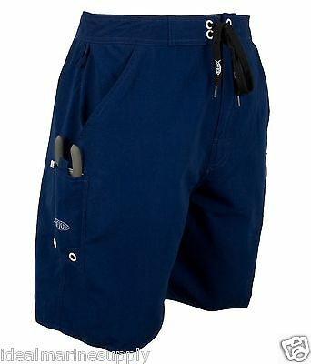 Aftco by Guy Harvey Shorts M07 Beach Boat Boardshorts Size 30-44..New. Navy Blue