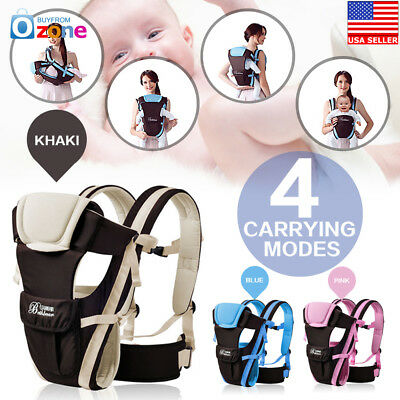 US Adjustable Newborn Infant Baby Carrier Comfortable Wrap Rider Sling Backpack