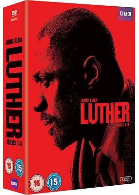 LUTHER Complete Season BBC Series 1 2 & 3 Collection Box Set NEW DVD R4