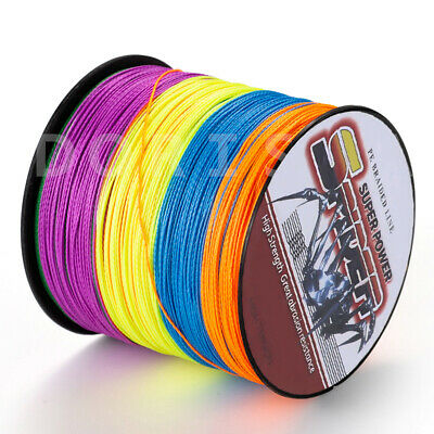 Spider 100M-2000M Multi-Color Super Strong 100% Pe Dyneema Braided Fishing line